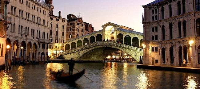La ciudad de Venecia en Italia.