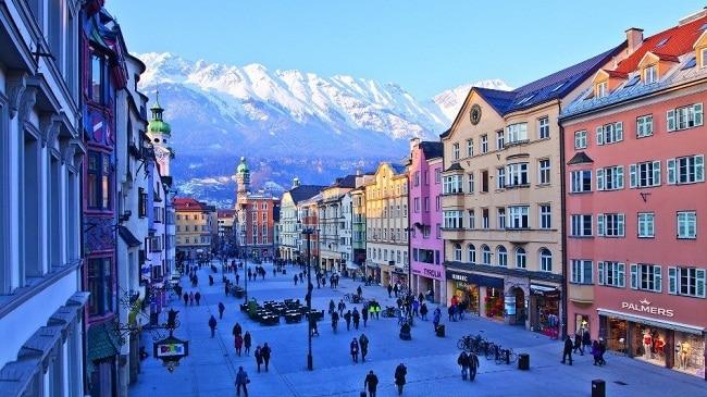 Innsbruck, en Austria uno de los destinos más visitados de Europa.