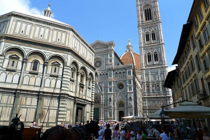 Plaza del Duomo en Florencia